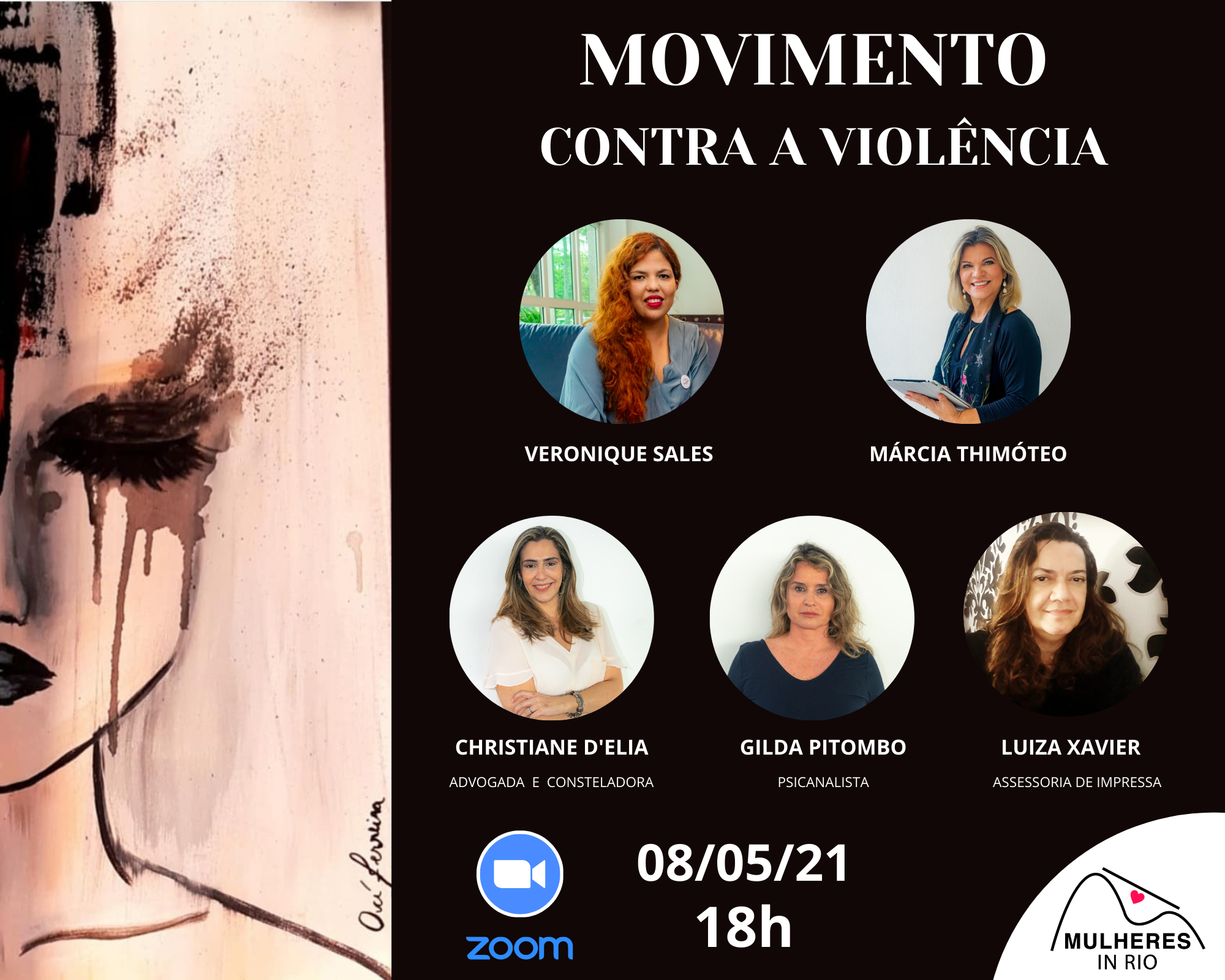 Movimento contra a violência Mulheres in Rio 2021 (2)